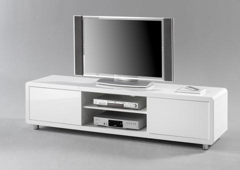 TV Bord, ASTRA, weiß Hochglanz